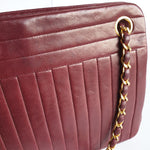 Load image into Gallery viewer, Chanel Bordeaux Purse with Vertical Quilts