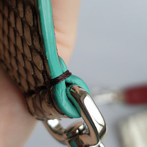 Fendi Strap You, Python with Teal Accents