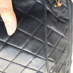 Chanel Navy Blue Quilted Lambskin Purse