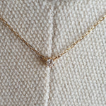 Load image into Gallery viewer, 4°C Gold Necklace with Diamond Pendant