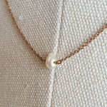 Load image into Gallery viewer, The Mathilde: Rose Gold-toned Necklace with Freshwater Pearl Pendant