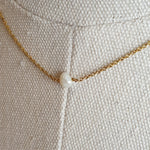 Load image into Gallery viewer, The Mathilde: Gold Necklace with Freshwater Pearl Pendant