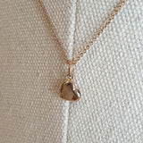 The Maxine: Rose Gold-Toned Necklace with Heart Pendant