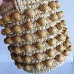 Load image into Gallery viewer, Sensi Studio Woven Handbag with Wooden Beads