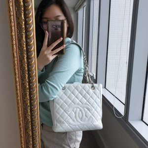 Chanel White Caviar PST Bag