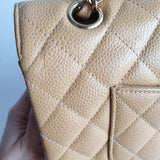 Chanel Dark Beige Caviar Classic Double Flap