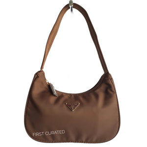 Prada Brown Nylon Handbag