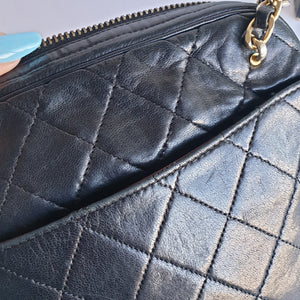 Chanel Black Lambskin Shoulder Purse