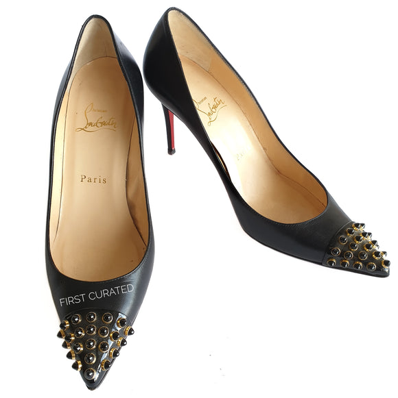 Christian Louboutin Black Heels with Studs, size 37.5