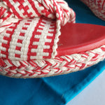 "Load image into Gallery viewer, Antolina Woven ""Bella"" Slides, size 39"