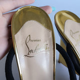 Christian Louboutin Metallic Wedge Slip-ons, size 37.5