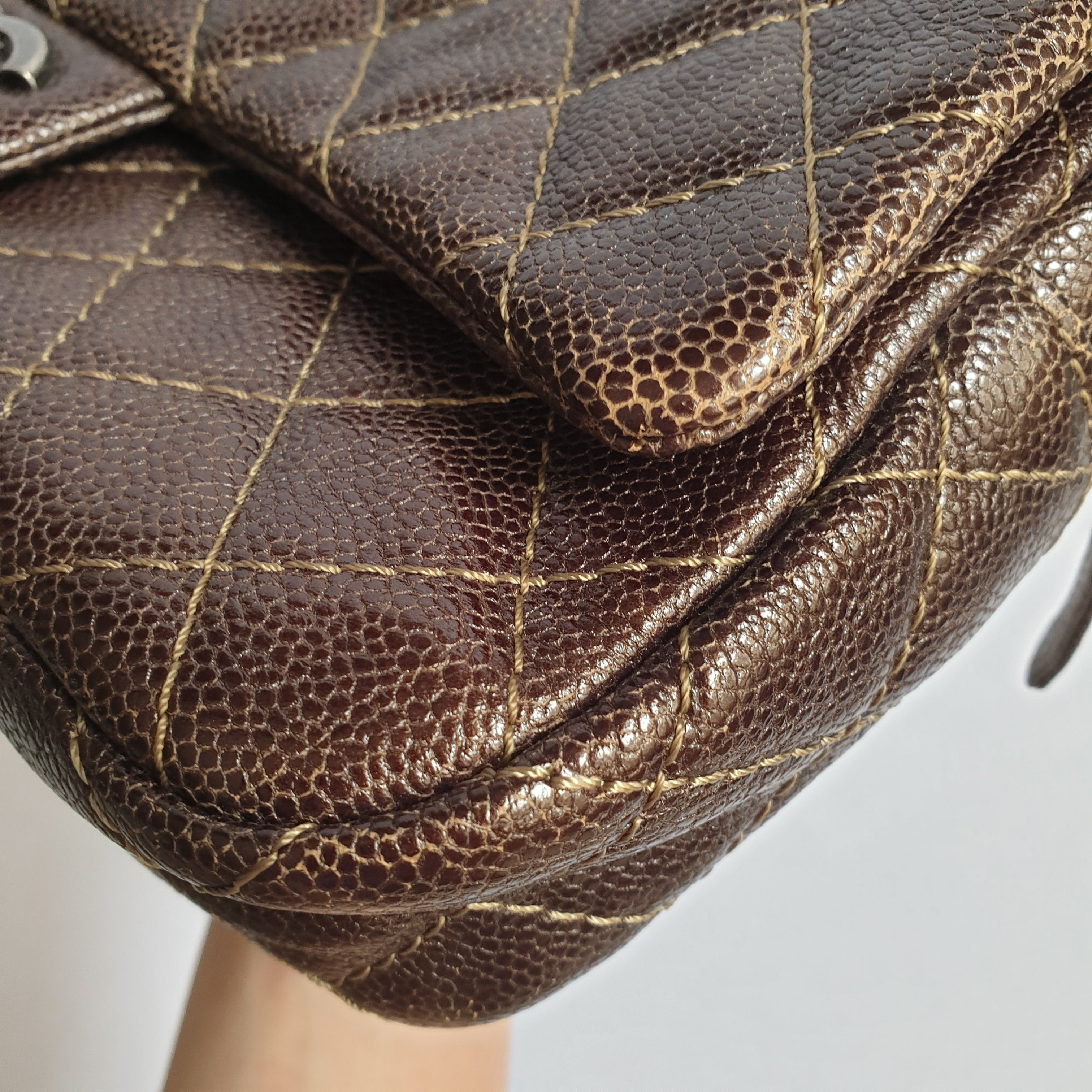 Chanel Brown Caviar Flap