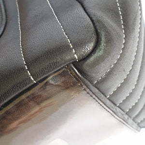 Chanel Black Vertically-Quilted Tote