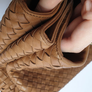 Bottega Veneta Tan Roma Handbag