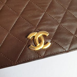 Chanel Brown Full Flap Bag