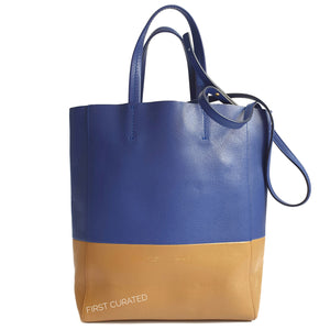Celine Two-tone Vertical Tote with Strap