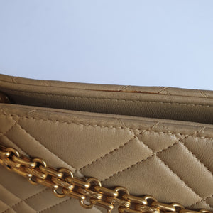 Chanel Beige Lambskin Bag with Reissue Straps