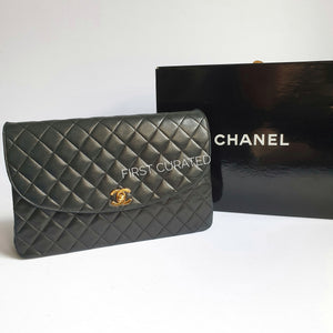 Chanel Black Lambskin Vintage Flap