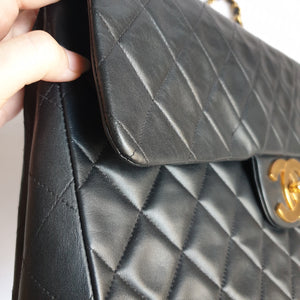 Chanel Black Maxi Jumbo Flap