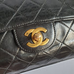 Load image into Gallery viewer, Chanel Black Classic Flap Clutch