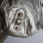 Load image into Gallery viewer, Balenciaga Silver Pompon Bag