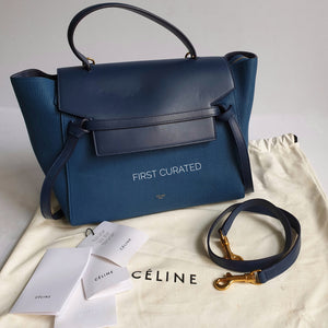 Céline Mini Belt Bag in Sea