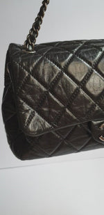 Load and play video in Gallery viewer, Chanel Black Flap Bag