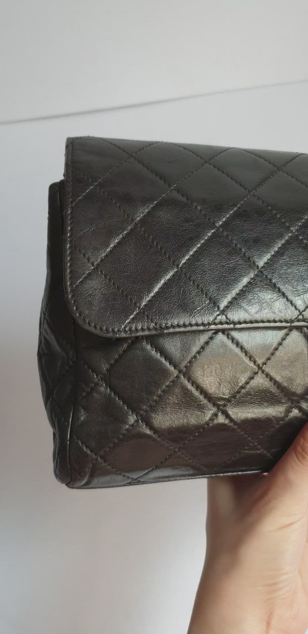 Chanel Black Classic Flap Clutch