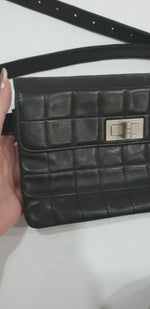 Load and play video in Gallery viewer, Chanel Black Clutch / Beltbag
