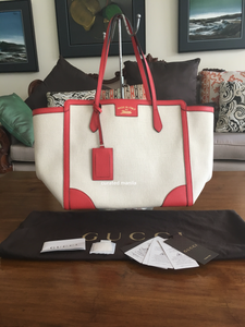 "Gucci Canvas ""Swing"" Tote"