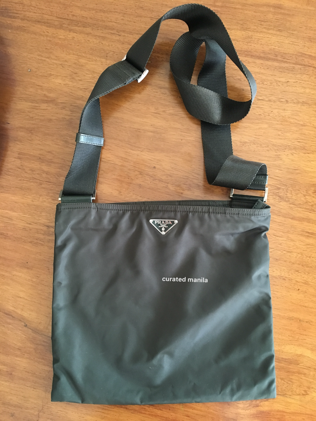 Prada Dark Green Nylon Sling – curatedmanila e002afb507d63