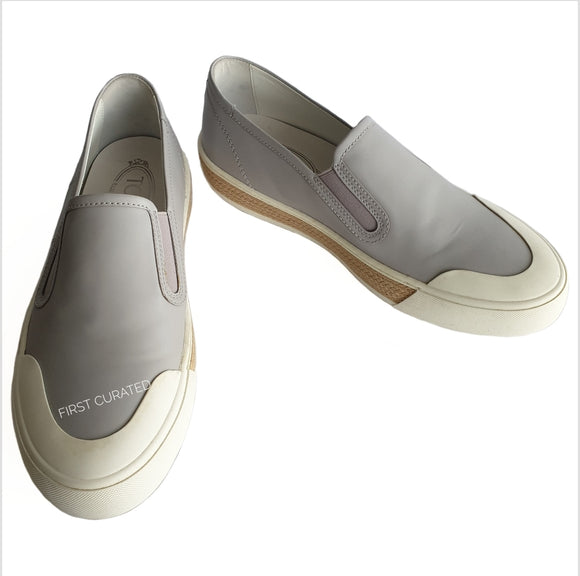 Tod's Grey Slip-ons with White Soles, size 39