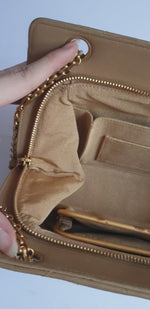 Load and play video in Gallery viewer, Chanel Beige Lambskin Bag with Reissue Straps