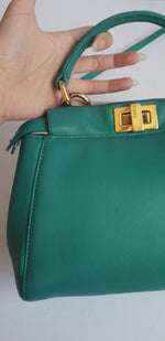 Load and play video in Gallery viewer, Fendi Teal Peekaboo