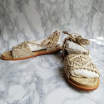 Load image into Gallery viewer, Paloma Barcelo Woven Sandals, Size 38