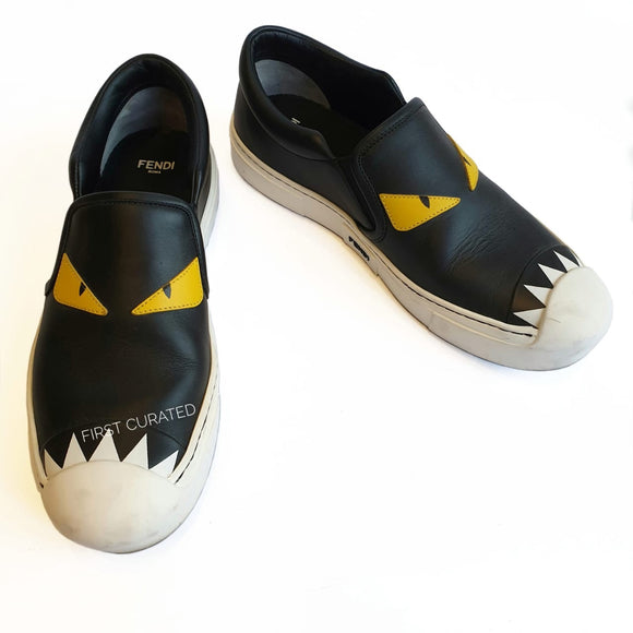 Fendi Monster Slip-ons, size 37