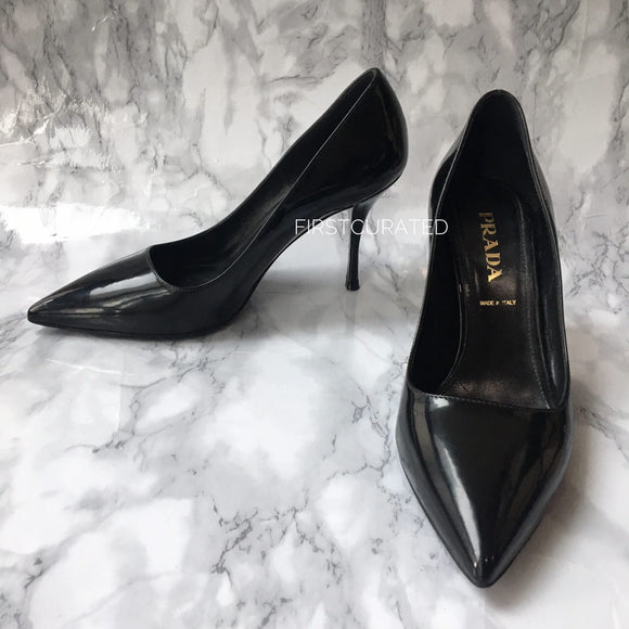 Prada Black Patent Pumps, size 35.5