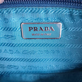 Prada Teal Nylon Handbag with Sling