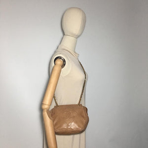 Chanel Tan Tasseled Sling
