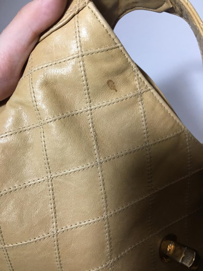 Chanel Beige Vintage Shoulder Bag
