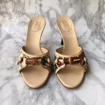 Load image into Gallery viewer, Gucci Limited Edition Floral Bamboo Slides, size 37.5