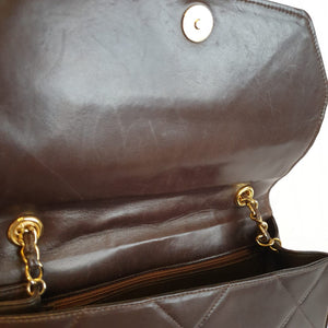Chanel Chocolate Brown Lambskin Purse