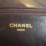 Load image into Gallery viewer, Chanel Chocolate Brown Purse with Gold Strap