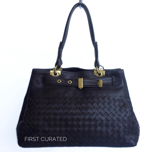 Bottega Veneta Dark Brown Handbag