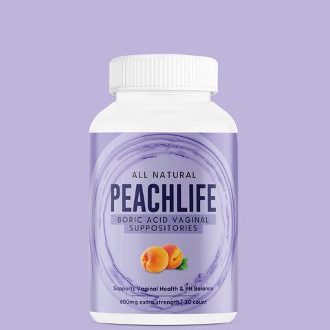 Peachlife INC Boric Acid Vaginal Suppositories for Yeast Infections