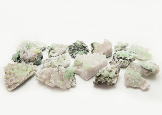 Babingtonite, Prehnite, Quartz (Mixed)