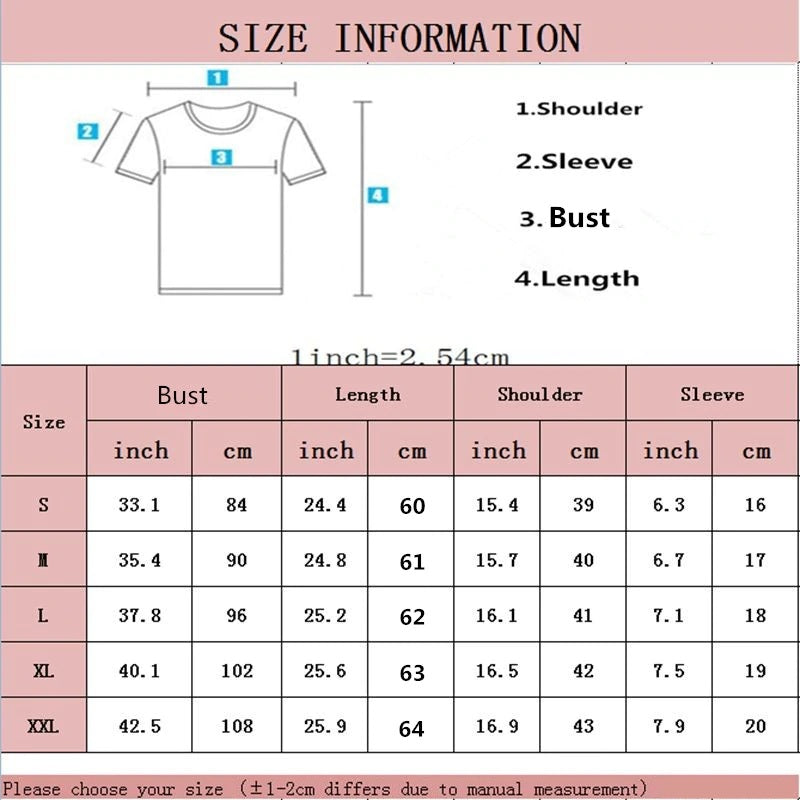 Vogue T-shirts size guide