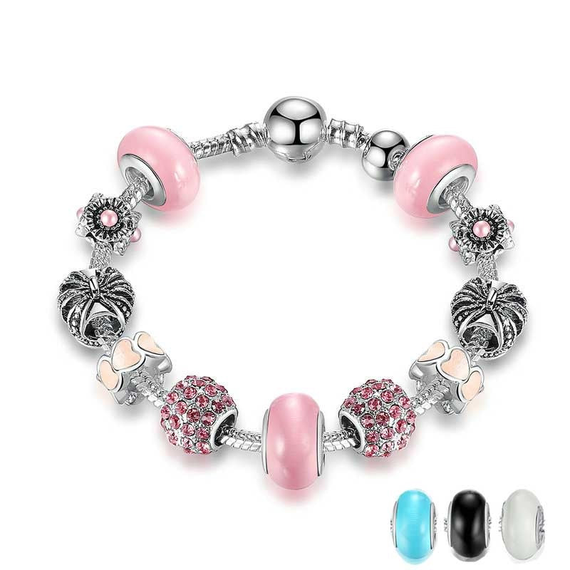 Women's Eye Catching Charms Bracelet With Lovely Colorful Beads