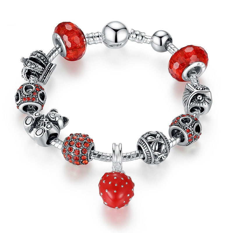 Energy of Red - Gorgeous Bracelets with Red Beads and Owl, Bear & Bear Charms