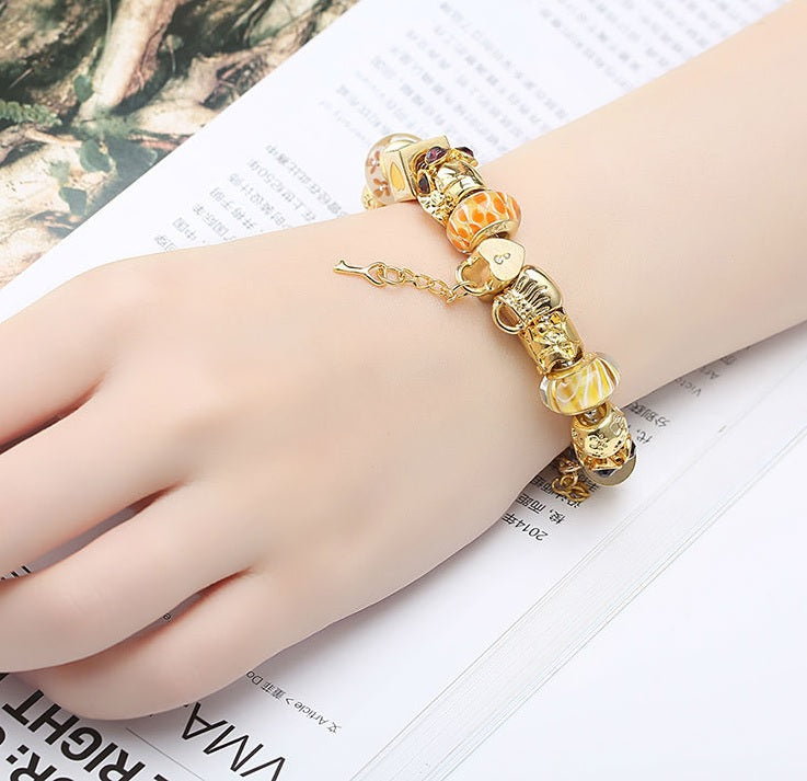 Women's Golden charm bracelet
